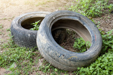 Used Old Tires Are Recycled.Us...