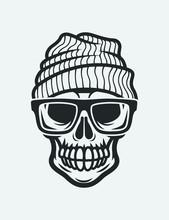 Skull In Glasses And Hat