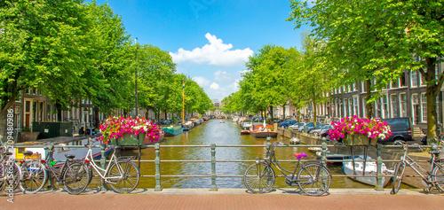 Foto op Aluminium Amsterdam Schönes Amsterdam im Sommer