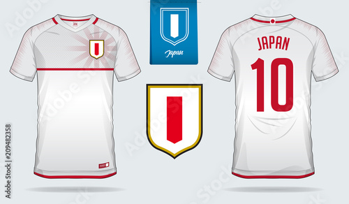 detailing a753b 692a0 Soccer jersey or football kit template design for Japan ...