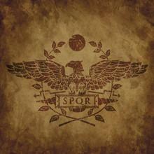 Logo Of The Roman Eagle On An ...