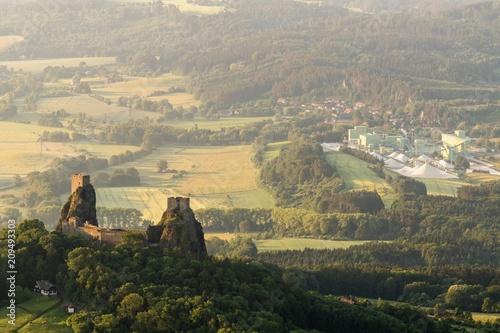Recess Fitting Green blue Trosky Castle in Czech republic