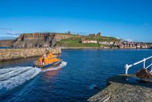 Lifeboat Returning Into Whitby...