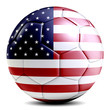 canvas print picture United States soccer ball football futbol isolated