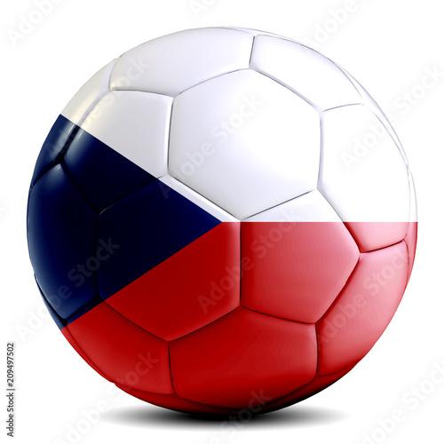 Fotografie, Obraz  Czech Republic soccer ball football futbol isolated