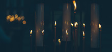 Lighted Candles In The Church ...