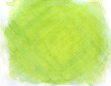 Abstract Green Lined Watercolor Background, Texture.