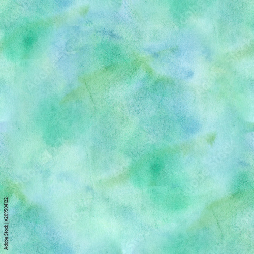 Seamless Abstract Blue Green Watercolor Background Texture
