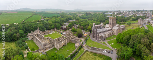 Photo Aerial view of St Davids cathedral in Wales