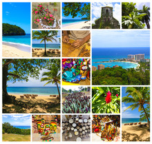 Collage About Jamaica - Caribb...