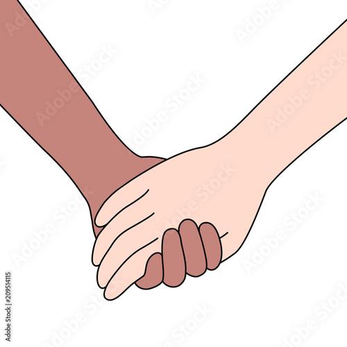 Fotografia  Couple holding hands