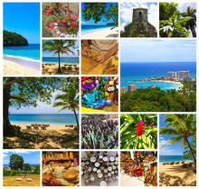 Collage About Jamaica - Caribbean Island