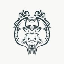 Ornamental Tattoo Orangutan He...