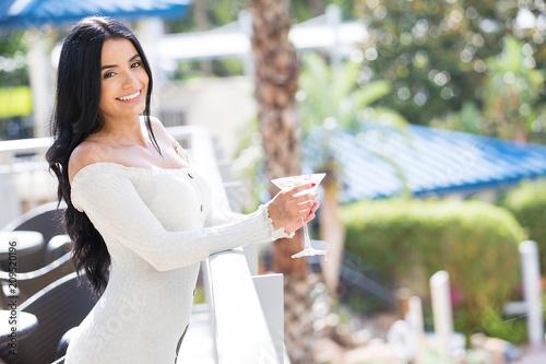 Fotografie, Obraz  Drinking a martini at a tropical resort