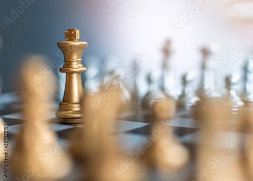 Fotografía  Business strategy competition, strategic planning for winning success and leader
