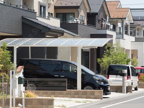 Fototapeta 住宅のガレージ obraz