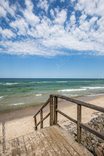 Baltic Sea beach in Jastrzebia Gora. Summer time in north Poland