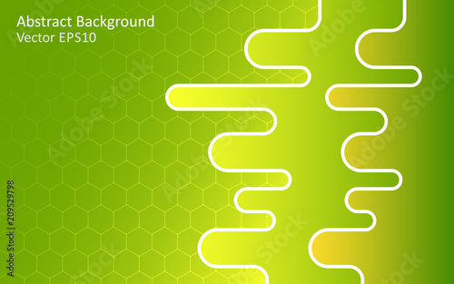 Tuinposter Abstractie Art Green abstract vector background