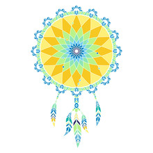 Lineless Colorful Dreamcatcher...