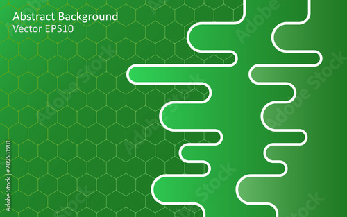 Tuinposter Abstractie Art Emerald green abstract vector background