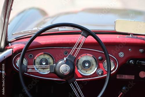 Keuken foto achterwand Vintage cars Retro car cockpit