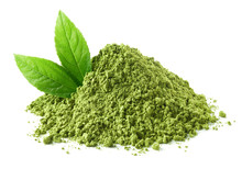 Heap Of Green Matcha Tea Powde...