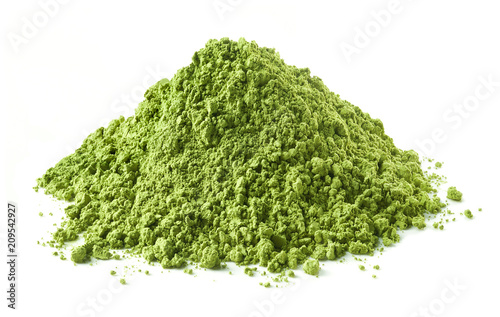 Fototapeta Heap of green matcha tea powder obraz