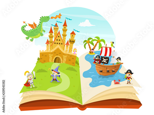 Fairy Tales Book Illustration