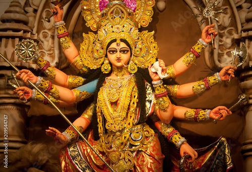 Fotografie, Obraz  Goddess Durga - Festival of Bengal