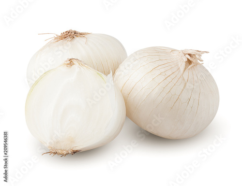 Fotografia onion, isolated on white background, clipping path, full depth of field