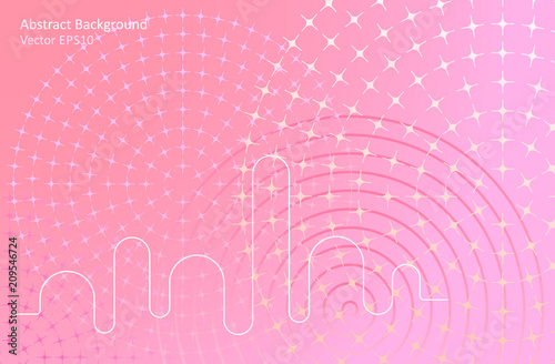 Tuinposter Abstractie Art Soft pink abstract vector background
