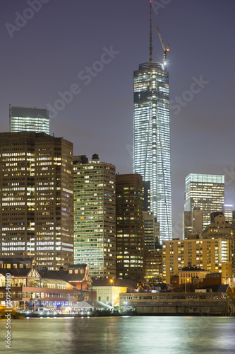 One World Trade Center, New York, At Night Poster