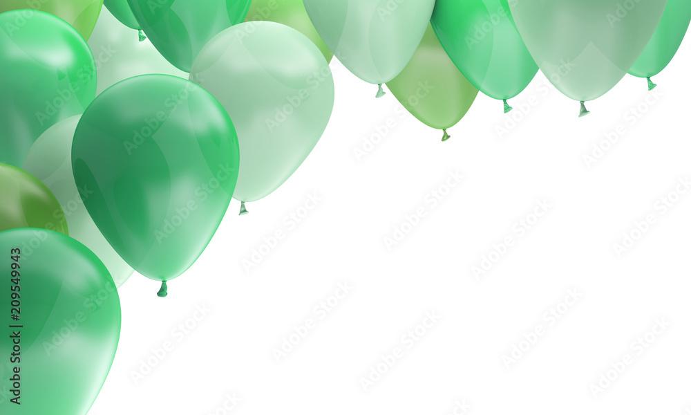 Fototapeta ballons fête anniversaire célébration verts