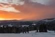 Winter mountain sunrise, Little Poland landscape