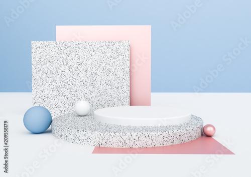Fotografía  3d rendering abstract composition