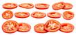 canvas print picture - Tomato slice isolated
