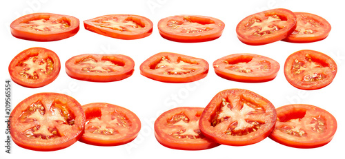 Tomato slice isolated