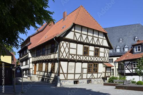 Fotografie, Obraz  Schiefes Haus in Wernigerode