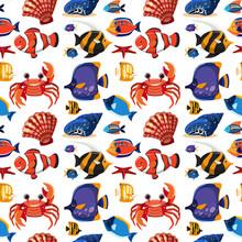 Pattern Of Sea Animals