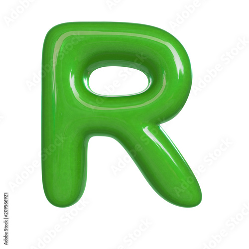 Soap Bubble Letter R Small 3d Transparent Font Dream Childhood Or