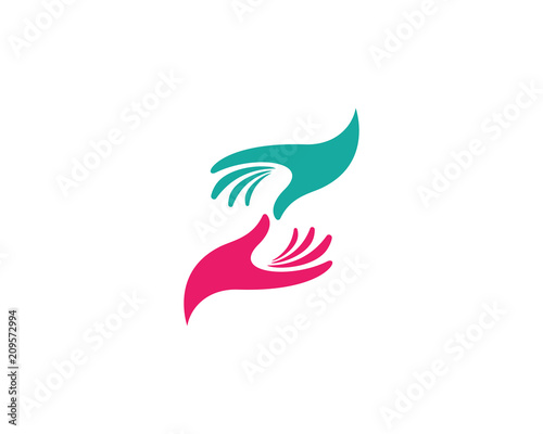 Obraz Hand Care Logo Template - fototapety do salonu
