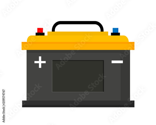 Foto Car battery icon isolated on white background