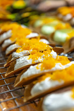 Thai Crispy Pancake, Kanom Buang, Thai Sweetmeat, Thai Traditional Dessert, The Popular Of Street Foodthai