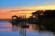 Boat Dock In Murrells Inlet So...