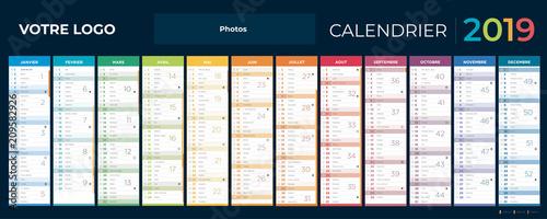 Fotomural  calendrier