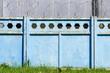 blue concrete fence background
