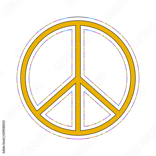 Isolated colored peace symbol Poster