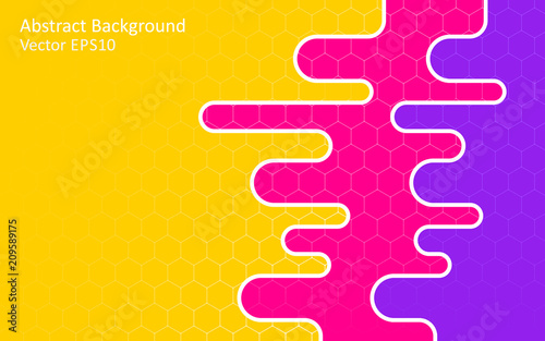 Tuinposter Abstractie Art Colorful abstract vector background, template design