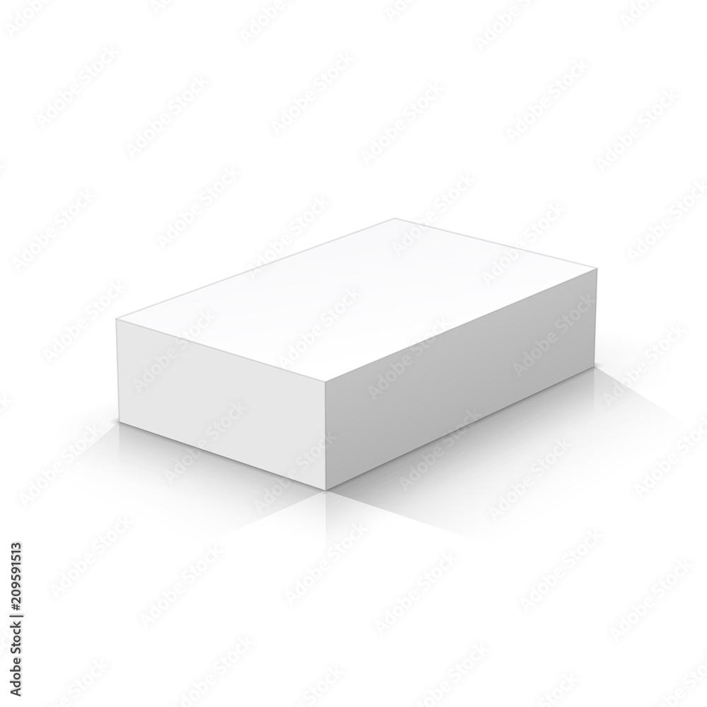 Fototapety, obrazy: White rectangular parallelepiped