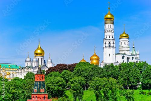 In de dag Aziatische Plekken View of Ivan the Great Bell Tower at Kremlin in Moscow, Russia.
